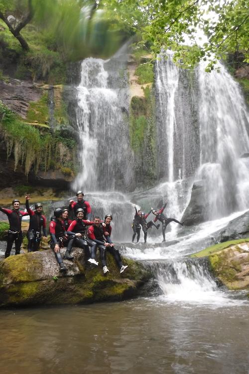 Cascada final del barranco Cicera (Desfiladero La Hermida)