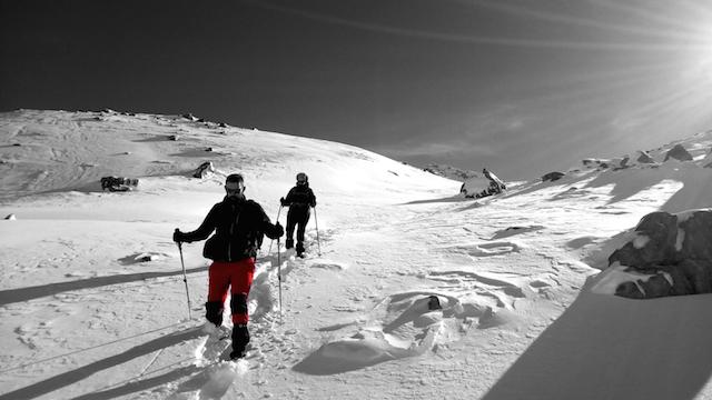 Ruta en raquetas de nieve. Macizo de Ubiña. Asturias
