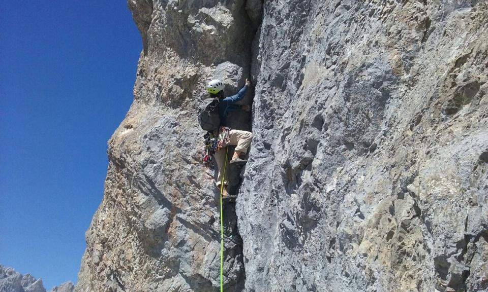 Escalada en roca. Rojo Libanés 6b+. Horcados Rojos