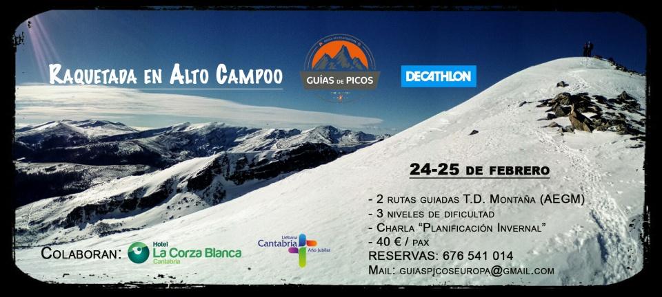 Raquetada Alto Campoo Guías de Picos Decathlon