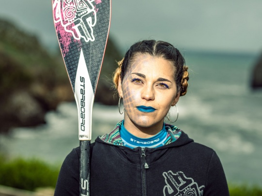 Ivonne, monitora de Stand Up Paddle en Sup Dreamers